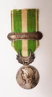 Médaille Commémorative De La Campagne Du Maroc 1909 1912 En Argent Agrafe MAROC - France
