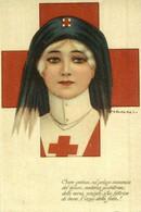 Croce Pietosa Sul Pelago Immenso Del Dolore,materna Prolettrice. Red Cross La Croix Roug 1914/15 WWI WWICOLLECTION - Weltkrieg 1914-18