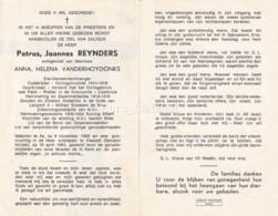 Petrus Joannes Reynders X Vanderhoydonks, As Hasselt, Vuurkruiser IJzerkruis Orde Leopold II, I.O.K. 60 - Devotion Images