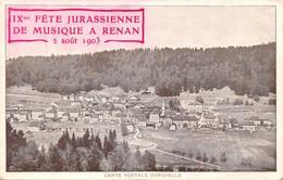 Renan Fete Jurassienne - JU Jura