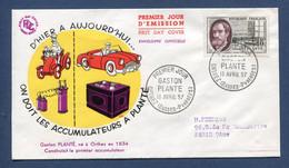 ⭐ France - FDC - Premier Jour - Gaston Plante - Orthez - 1957 ⭐ - 1950-1959