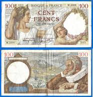 France 100 Francs 1939 19 Octobre Serie W Que Prix + Port Sully Frcs Frc Paypal Bitcoin OK - 100 F 1939-1942 ''Sully''