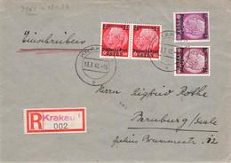 DEUTSCHE POST OSTEN - RECO 13.3.40 KRAKAU > BERNEBURG //AA115* - Occupation 1938-45