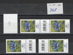"BRD ""Kornblume"" Mi-Nr. 3468 ** Alle Zusammendrucke 500er Rolle - Unused Stamps"