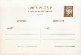 CARTE POSTALE ENTIER PETAIN 80 C Avec Réponse Payée - Overprinter Postcards (before 1995)
