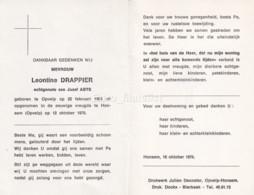 Leontine Drappier X Abts, Opvelp Honsem, I.O.F. 93 - Andachtsbilder