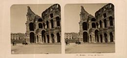 ROMA: DETTAGLI DEL COLOSSEO.  ESTEREOSCOPICA. STÉRÉOSCOPIQUE. STEREOSCOPIC - Stereoscopic
