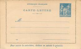CARTE LETTRE Entier Postal 15 C Type Sage ( Dim : 130 / 80mn ) Ref J31D - Letter Cards