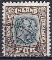 IS010BIs – ISLANDE – ICELAND – 1907/08 – KINGS CHRISTIAN IX & FREDERIK VII - SG # 94 USED 77 € - Gebraucht