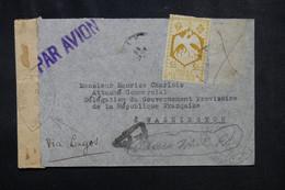 A.E.F. - Enveloppe Pour La Délégation Du Gouvernement Provisoire Français à Washington En 1945 Avec Contrôle - L 72434 - Covers & Documents