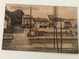 Carte Postale Ancienne (1933) Rhode-St-Genèse Quartier De La Gare (Lieu Idéal De Villégiature 135 M D'altitude) - Rhode-St-Genèse - St-Genesius-Rode