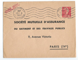 ENTIER POSTAL ENVELOPPE Marianne De Muller TSC SOCIETE MUTUELLE D'ASSURANCE Batiment Travaux Publics - Standard Postcards & Stamped On Demand (before 1995)