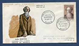 ⭐ France - FDC - Premier Jour - Jules Guesde - Paris - 1957 ⭐ - 1950-1959