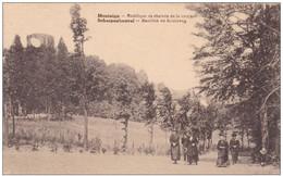 Scherpenheuvel Basiliek En Kruisweg 1931 Postzegel Stempel Montaigue - Scherpenheuvel-Zichem