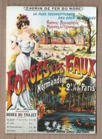 CPM Publicité TOURISME FORGES LES EAUX STATION THERMALE NORMANDIE Reproduction Affiche Femme CHEMIN DE FER DU NORD - Reclame