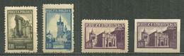 POLAND MNH ** 450-452 Monument De Gdansk Dantzig - Unused Stamps