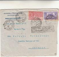 Agenzia Generale Automobili, Firenze Per Tripoli - Cover Con Contenuto - 1931 - Correo Aéreo