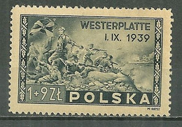 POLAND MNH ** 454 Anniversaire De La Bataille De Westerplatte, Armée Guerre Combat - Unused Stamps