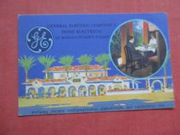 General Electric Co. Pan Pac Expo 1915 San Fran Ca. > Ref 4416 - Advertising