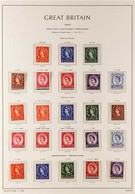 """1952-1970 PRE-DECIMAL DEFINITIVES NEVER HINGED MINT COLLECTION  On """"Lighthouse"""" Hingeless Printed Leaves, Highly Complet - 1952-.... (Elisabetta II)"""