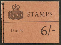 1968  (May) 6s Machin Booklet, Change To PVA GUM, SG QP37. Very Fine. For More Images, Please Visit Http://www.sandafayr - 1952-.... (Elisabetta II)