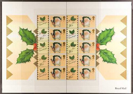 """2000 """"SMILERS"""" SHEET  1st Class """"Xmas Cracker"""" Complete Sheet, SG LS3, Very Fine Never Hinged Mint. For More Images, Ple - 1952-.... (Elisabetta II)"""