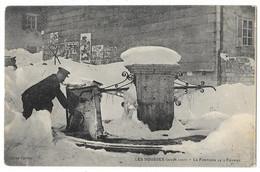 Cpa: 39 LES ROUSSES (ar. Saint Claude) La Fontaine (Gelée) Le 3 Février 1907  Ed. Carrat - Otros Municipios