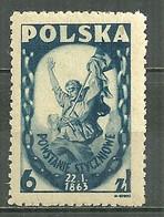 POLAND MNH ** 463 Commémoration Du Soulèvement Du 22 Janvier 1863, Insurgé - Unused Stamps