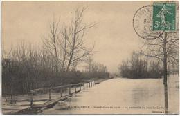77 BALLOY-sur-SEINE - Inondations De 1910 - La Passerelle Du Bois De Caille - Andere Gemeenten