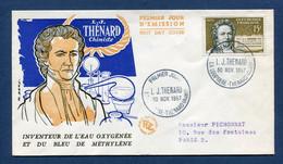 ⭐ France - FDC - Premier Jour - L. J. Thenard - La Louptière Thenard - 1957 ⭐ - 1950-1959