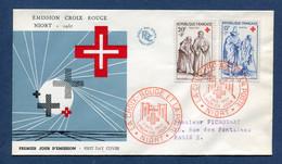 ⭐ France - FDC - Premier Jour - Croix Rouge - Niort - 1957 ⭐ - 1950-1959
