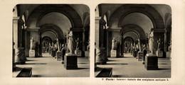 2 Paris, Louvre, Galerie Des Sculptures Antiques.  ESTEREOSCOPICA. STÉRÉOSCOPIQUE. STEREOSCOPIC - Stereoscopic