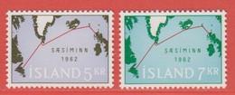 1962 ** Islande  (sans Charn., MNH, Postfrish)  Yv  321/2Mi  366/7FA  403/4 - Ungebraucht