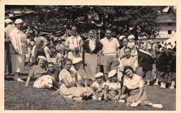 """1504 """"FOTO - FESTA DI FORNO ALPI GRAIE ANNO 1938 XVI IN OCCASIONE DELLA VISITA DEL FEDERALE GAZZONI"""" COSTUMI TIPICI - Guerra, Militari"""