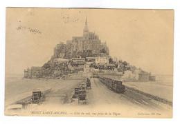 E486 - LE MONT SAINT MICHEL - Côté Du Sud, Vue Prise De La Digue - Train - Le Mont Saint Michel