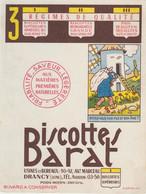 BUVARD BISCOTTES BARAT Devinettes Meunier - Zwieback