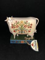 Figurine Jim Shore Animaux Sur Socle Vache Folk «Til The Cows Come Home » N°4039491 Neuve - Beeldjes