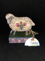 Figurine Jim Shore Animaux Sur Socle Mouton Folk «Gentle As A Lamb » N°4039494 Neuve - Beeldjes