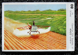 Image Chocolat COOP - Série Travail Des Hommes - N° 80 Agriculture Pulvérisation Par Hélicoptère - Cioccolato