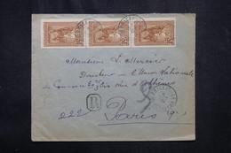 MADAGASCAR - Enveloppe En Recommandé De Brickaville Pour Paris En 1931 Via Tamatave - L 72480 - Brieven En Documenten