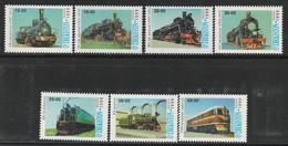 OUZBEKISTAN - N°131/7 ** (1999) Trains - Uzbekistan