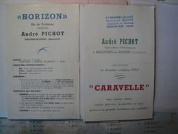 EURE ET LOIR. 28. PAIRE DE PLAQUETTES AGRICOLES ANDRE PICHOT. 1963 BAZOCHES EN DUNOIS. BLE DE PRINTEMPS HORIZON / AVO.. - Historical Documents