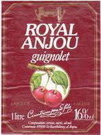 Etiquette GUIGNOLET (Cerises) ROYAL ANJOU - Cointreau - (49) St-Barthélemy-d'Anjou - Fruits & Vegetables