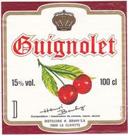 Etiquette GUIGNOLET (Cerises)  DISTILLERIES H. BOUHY S.A. (71) LA CLAYETTE - Fruits & Vegetables
