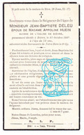 DP Im .Mort. - Suisse Eglise Bièvre - Jean Bapt. Deleu ° 1866 † Bièvre Prov. Namur 1939 X Appoline Huein - Andachtsbilder