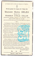 DP Im. Mort. - Maria Deleu ° 1870 † Bièvre Prov. Namur 1939 X Cyrille Collin - Andachtsbilder