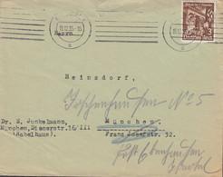 DR 598 EF Auf Drucksachemit Stempel: München 15.12.1935 - Covers & Documents