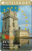 DENMARK TELEKORT PHONECARD/ECU SERIES PORTUGAL 5KR- 9/94-3000pcs -USED(MM2) - Dänemark