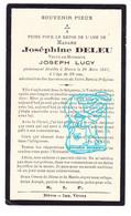 DP Im. Mort. - Joséphine Deleu ° 1869 † Bièvre Prov. Namur 1937 X Joseph Lucy - Andachtsbilder