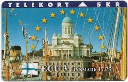 DENMARK TELEKORT PHONECARD/ECU SERIES FINLAND 5KR- 8/95-1500pcs -USED(MM2) - Dänemark